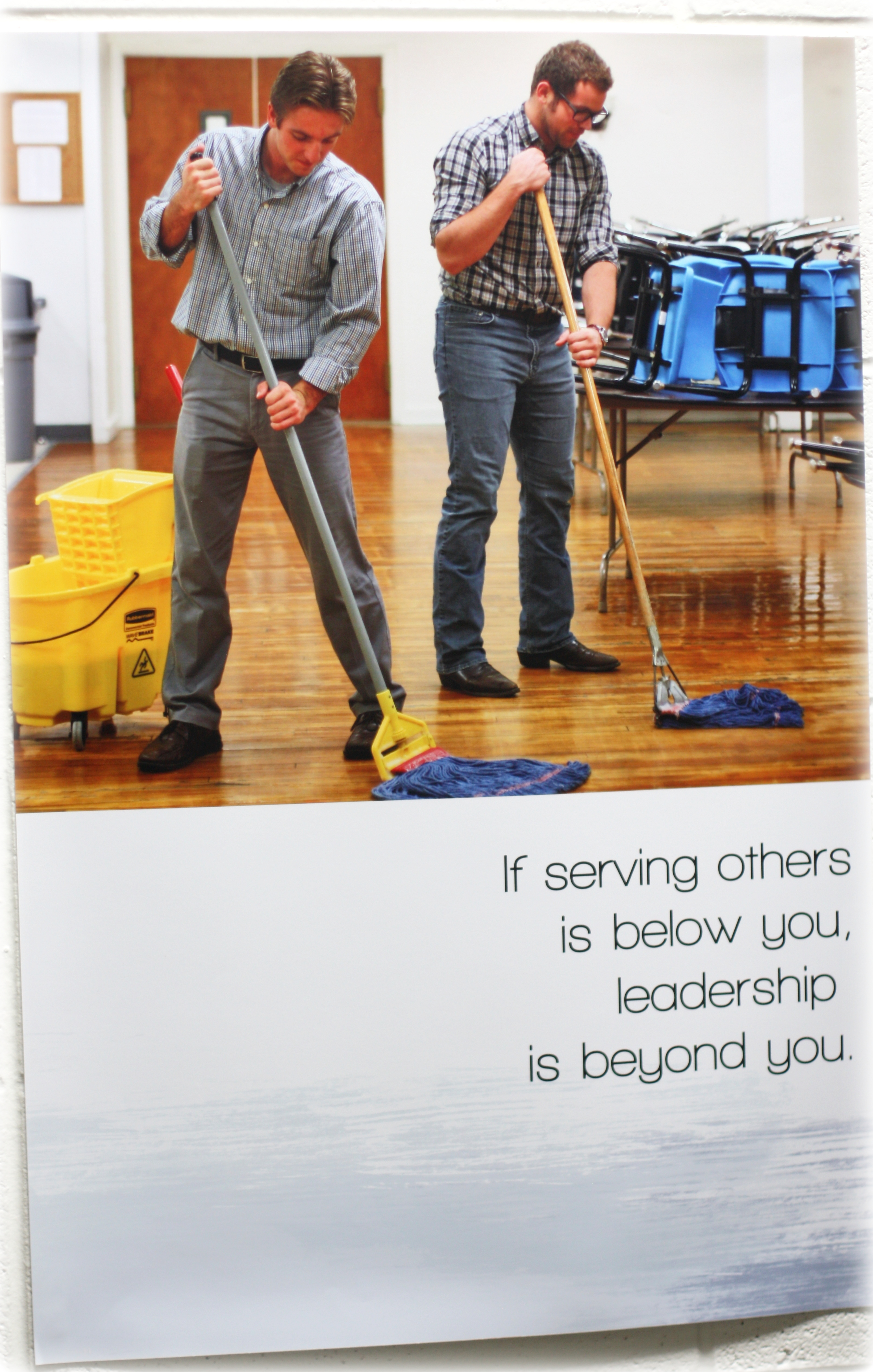 Mopping floors
